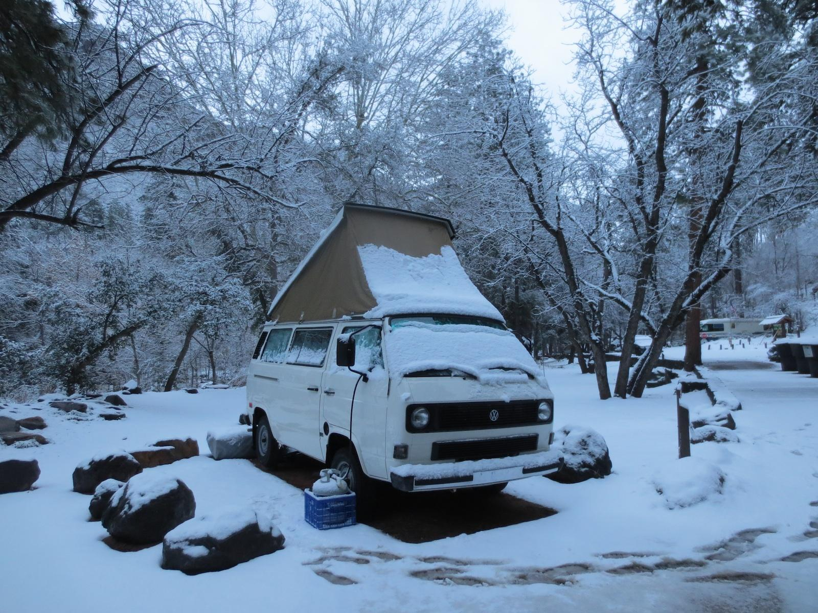 Winter Van Camping Camp Westfalia