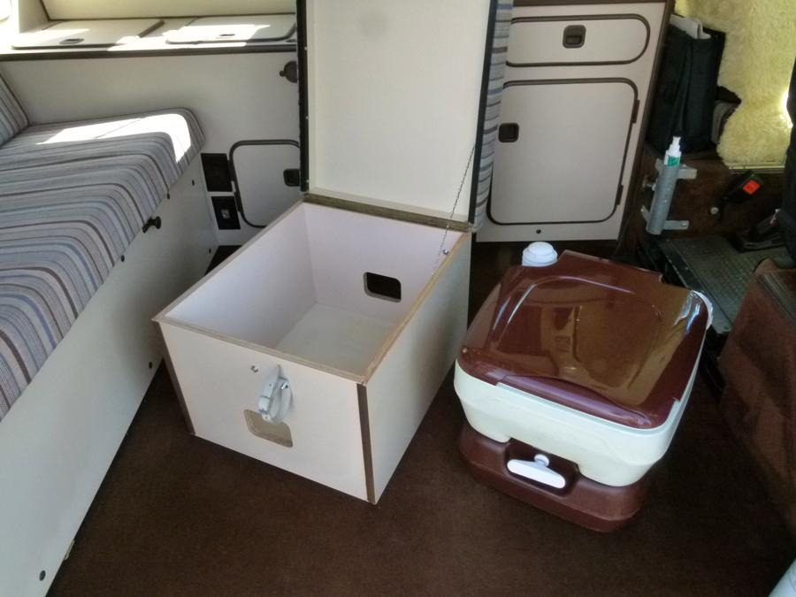 Original Vanagon Westfalia Toilet & Cabinet - Camp Westfalia