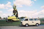 Ready, Set … Q: What's the only thing slower than a diesel Westfalia? A: A giant turtle, riding a snowmobile. Tommy the Turtle, mascot of Bottineau, ND, marks the entrance to the nearby Turtle Mountains where, among other activities, you evidently may drive a snowmobile …