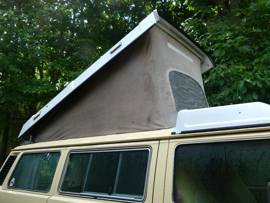 Washing the Westfalia Popup Roof Canvas & Cleaning and Waterproofing your Westfalia Canvas Tent - Camp Westfalia