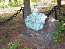 For some, the most suitable gravestone of all: a pure and unadorned node of native copper