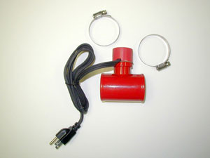 Inline hose coolant heater