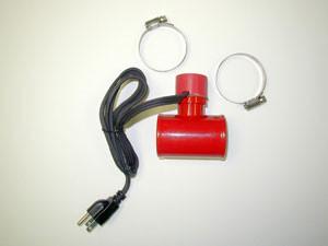 Inline hose coolant heater